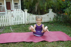 Kids use the Hugger Mugger mats for yoga
