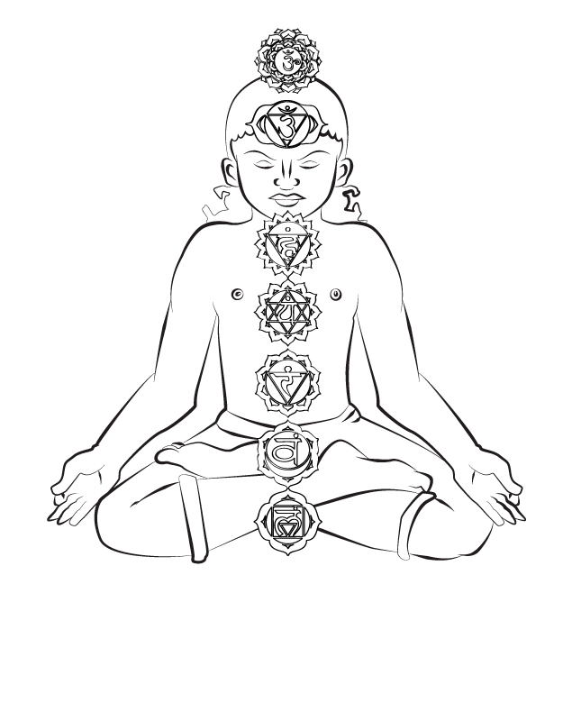 chakra symbols coloring pages - photo#3