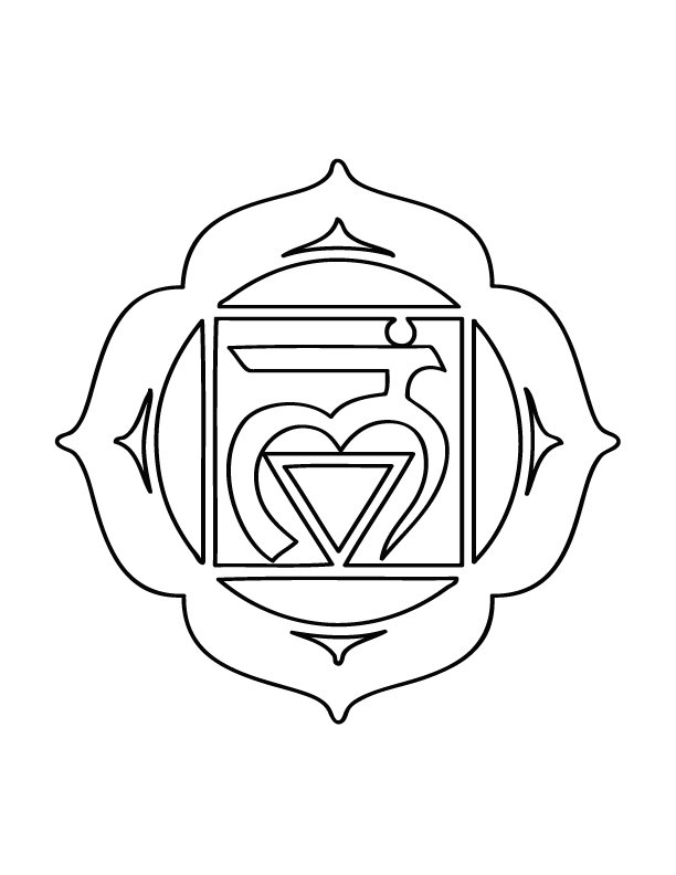chakra symbols coloring pages - photo#7