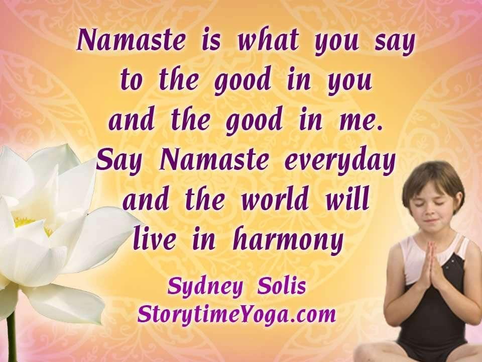 Namaste song for kids Storytime Yoga
