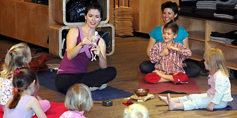 Teach kid's yoga and storytelling