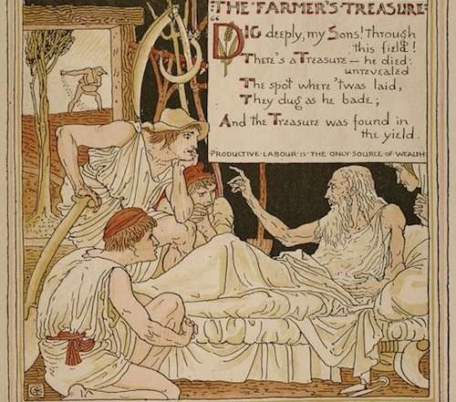 Storytime Yoga for Kids in the Garden Aesop's Treasure in the Earth
