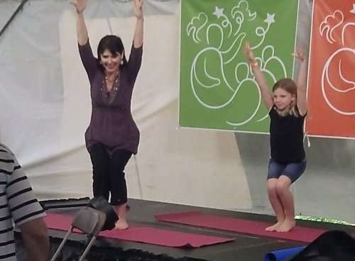 Storytime Yoga® Family Class at the Florida Storytelling Festival 2016