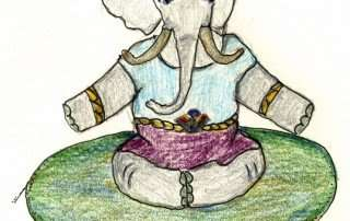 Zippy, a Storytime Yoga® for Kids character I imagined and drawn by Susannah Pels.