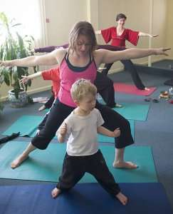 Storytime Yoga for kids mother and child Denver