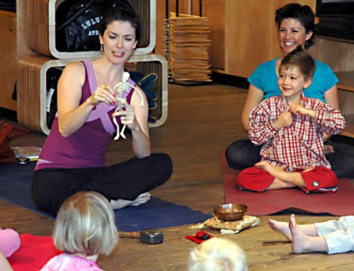 Storytime Yoga® Kids and Family Yoga class with The Queen of Bohemia at Florida Storytelling Fest