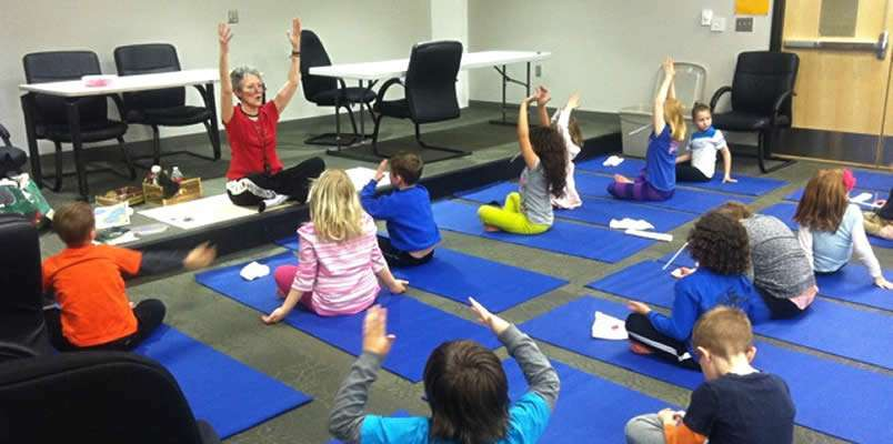 Yoga for kids at school