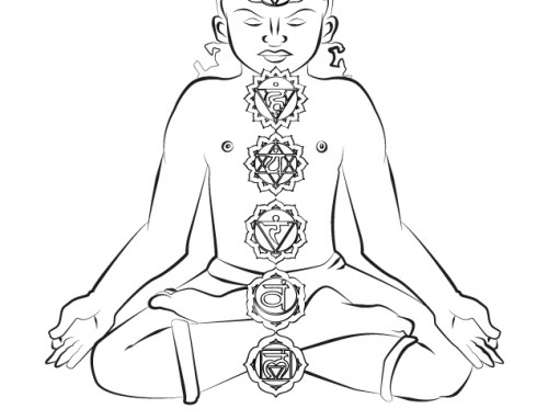 Storytime Yoga® Kids Yoga Philosophy – The Chakras Coloring Page