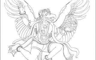 Garuda coloring page Storytime Yoga for Kids