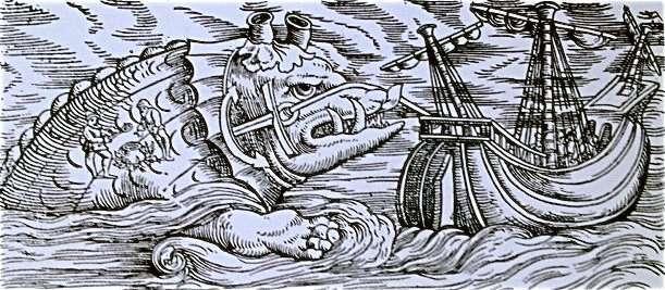 Sea Monsters. Congrad Gessner, Icones Animalium, 1560