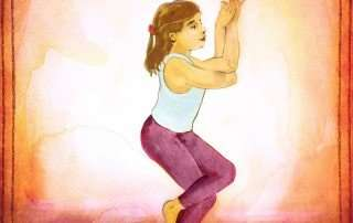 Storytime Yoga for kids garudasana