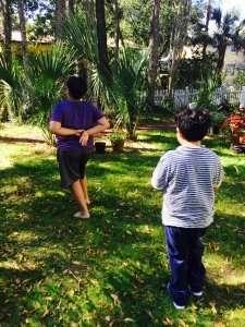 Storytime Yoga for Kids Walking Meditation in the Garden