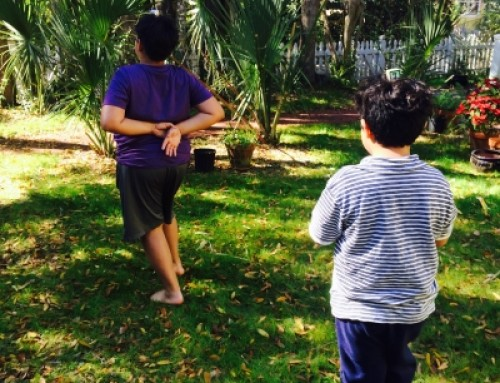 Kids Yoga Therapy and Storytelling in the Garden: Walking Meditation