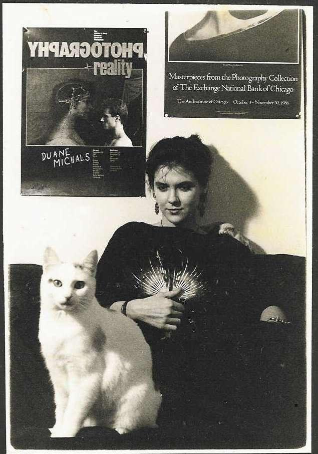 Sydney Solis Self-Portrait with Cat Boulder, Colorado 1989
