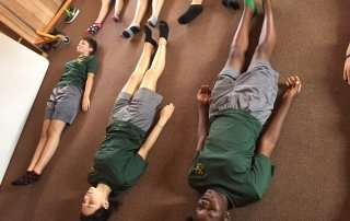Yoga for physical training at AFJROTC DeLand High School