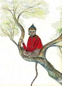 Chango, a Storytime Yoga® character I imagined and drawn by Susannah Pels.