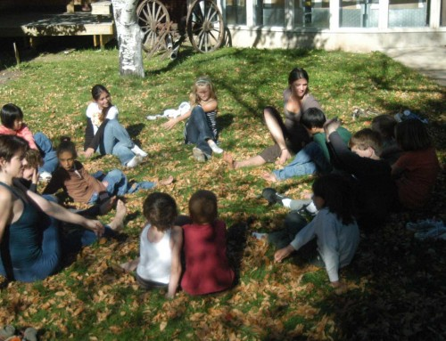 Storytime Yoga® for Kids Photo of the Day: Yoga in the Courtyard Garden