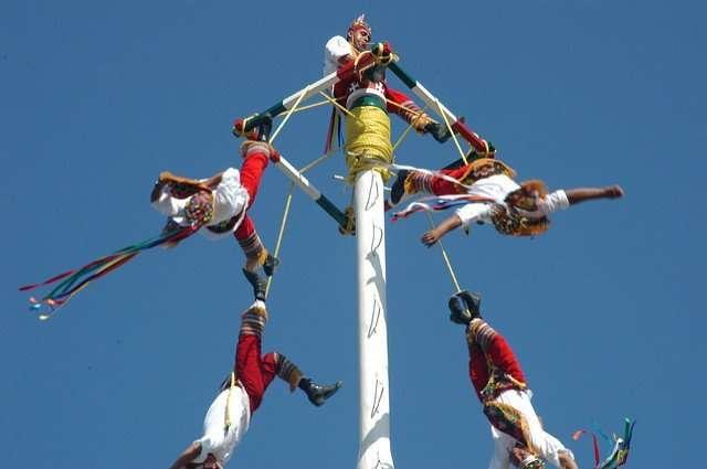 Mexican flying pole dancers in Puerto Vallarta, 2010 by Sydney Solis
