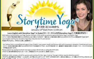 Storytime Yoga for Kids at Lingua World Cafe in Osaka, Japan