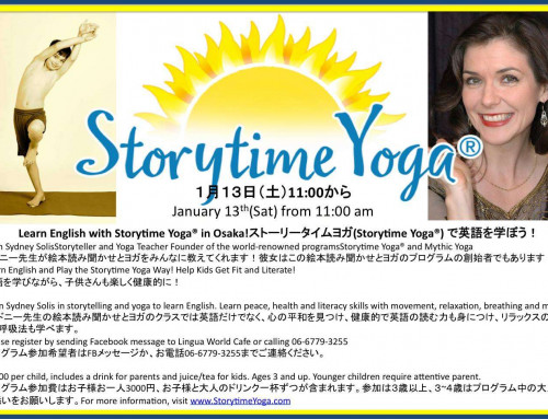 Learn English with Storytime Yoga for Kids in Osaka, Japan Jan 13!